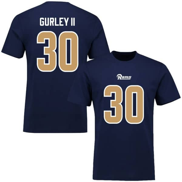 Todd Gurley  30 Los Angeles Rams Name   Number Script NFL T-Shirt ... 7a8aee1f8