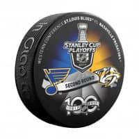 2017 Stanley Cup Playoffs 2nd Round Dueling NHL Souvenir Puck - Predators vs. Blues
