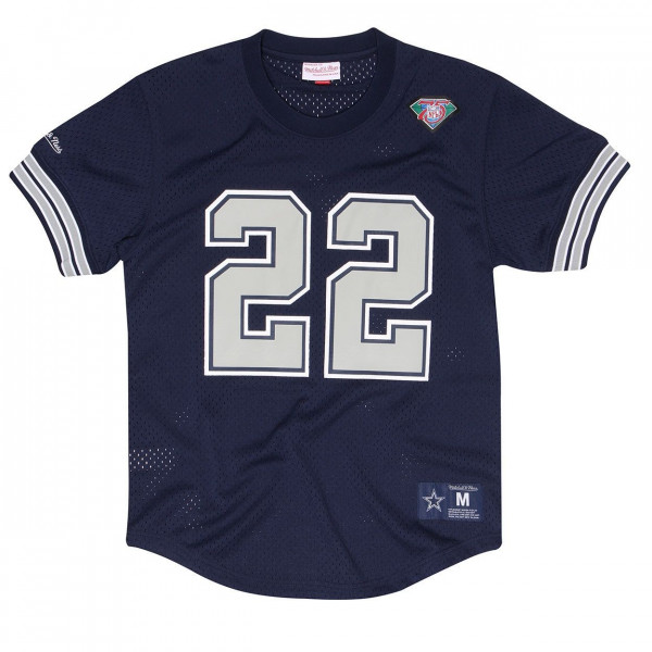 Emmitt Smith #22 Dallas Cowboys Throwback NFL Mesh Crewneck Shirt