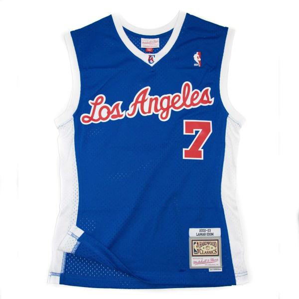 Lamar Odom #7 Los Angeles Clippers 2002-03 Mitchell & Ness Swingman NBA Trikot Blau