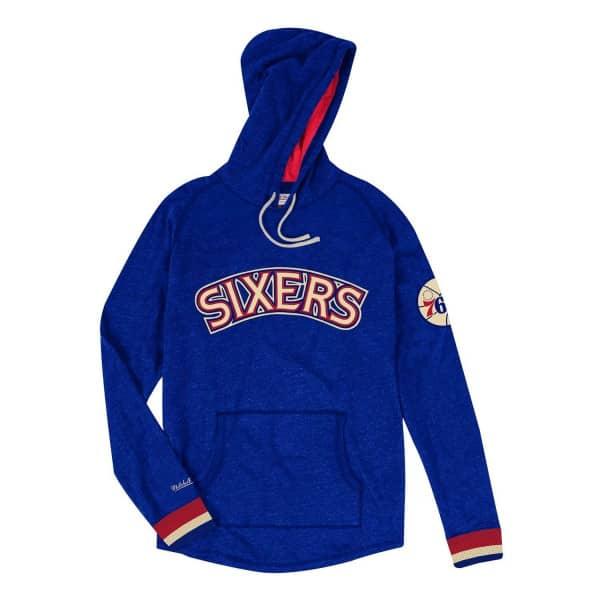 d7512f07b76 Mitchell & Ness Philadelphia 76ers Lightweight Pullover NBA Hoodie Blue    TAASS.com Fan Shop