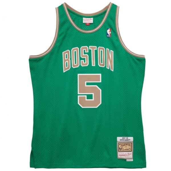 Kevin Garnett #5 Boston Celtics 2007-08 St. Patrick's Day Mitchell & Ness Swingman NBA Trikot Grün