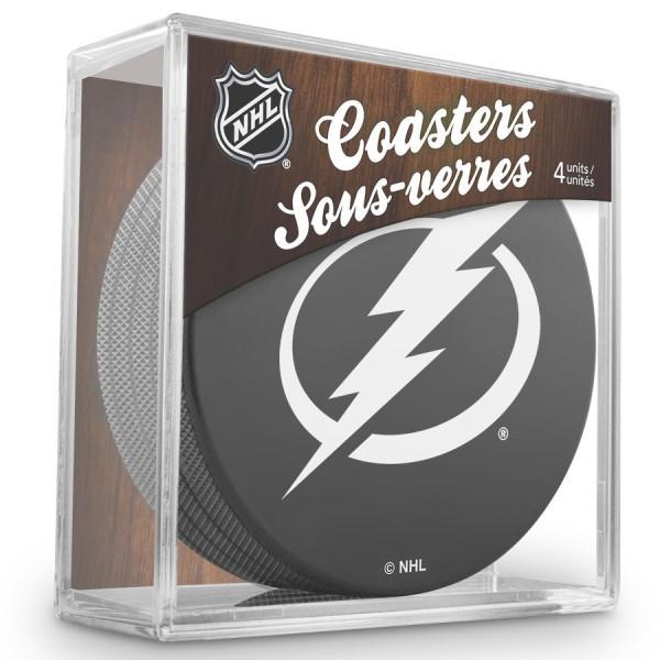 Tampa Bay Lightning NHL Eishockey Puck Untersetzer (4er Set)