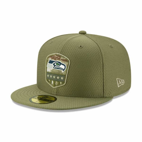 Seattle Seahawks 2019 On-Field Salute to Service 59FIFTY NFL Cap
