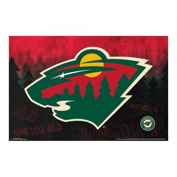 Minnesota Wild Team Logo Eishockey NHL Poster