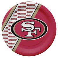 San Francisco 49ers Partyware NFL Pappteller Set (20 Stk.)