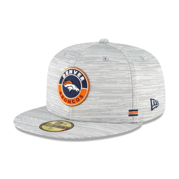 Denver Broncos Official 2020 NFL Sideline New Era 59FIFTY Fitted Cap Road