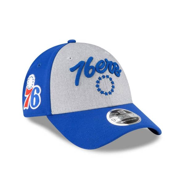 Philadelphia 76ers Authentic 2020 NBA Draft New Era Stretch-Snap 9FORTY Cap