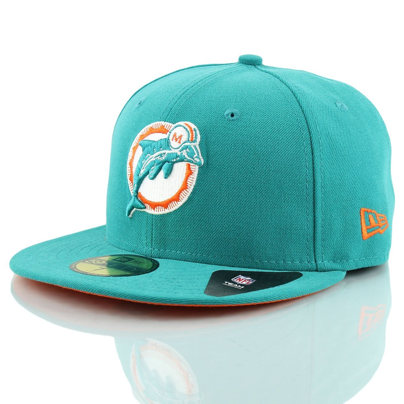 timeless design 3c66c bb1fe New Era Miami Dolphins 59Fifty Fitted SB VII Side Patcher NFL Cap   TAASS.com  Fanshop