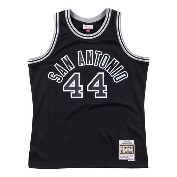George Gervin #44 San Antonio Spurs 1977-78 Swingman NBA Trikot Schwarz