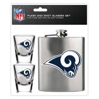 Los Angeles Rams NFL Flachmann & Schnapsgläser Set