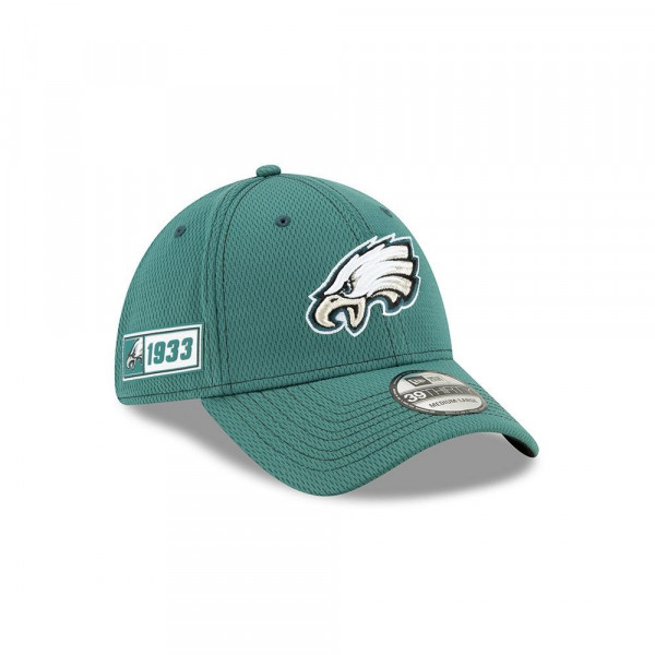 Philadelphia Eagles 2019 NFL On-Field Sideline 39THIRTY Stretch Cap Road
