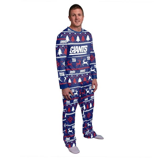 New York Giants Holiday Wordmark NFL Schlafanzug Set (2-Teilig)