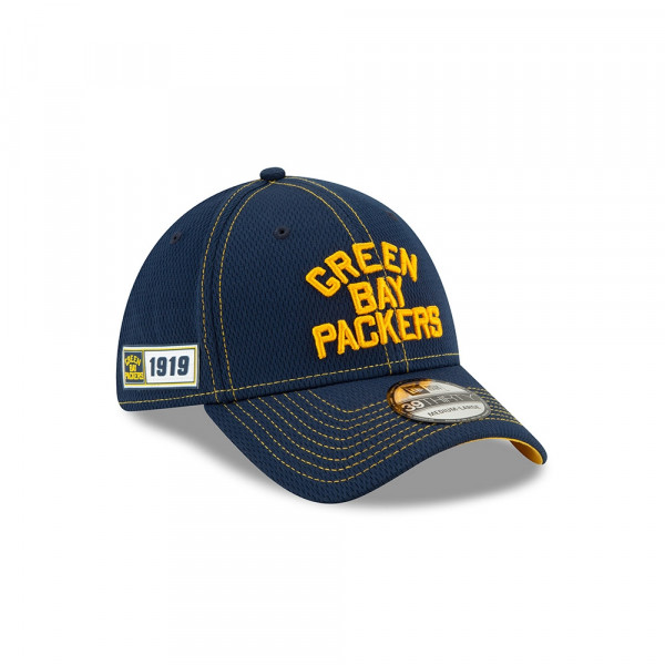 Green Bay Packers Throwback 2019 NFL On-Field Sideline 39THIRTY Stretch Cap Road