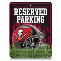 Tampa Bay Buccaneers Reserved Parking NFL Metallschild