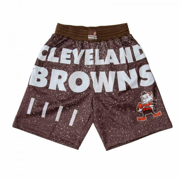 Cleveland Browns Jumbotron Throwback Mitchell & Ness NFL Shorts Braun