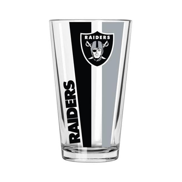 Las Vegas Raiders Vertical Stripe NFL Pint Glas (470 ml)
