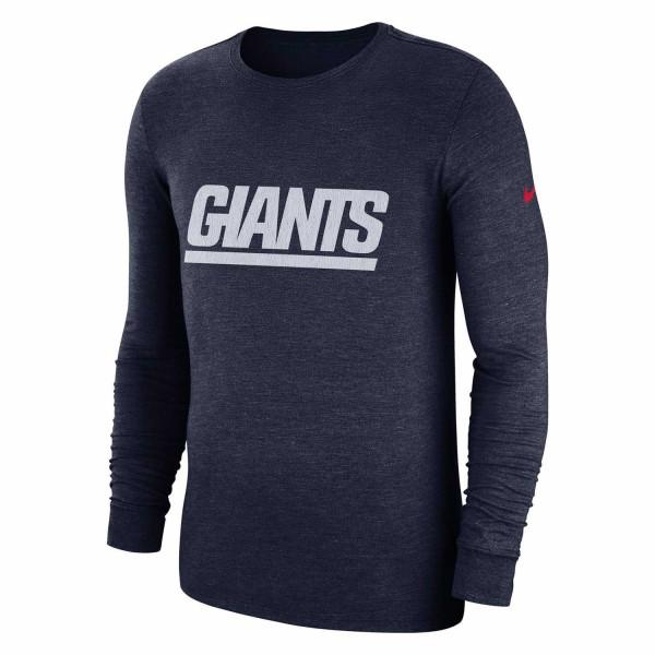 best sneakers 1241a 12acb Nike New York Giants Historic Crackle NFL Long Sleeve Shirt Navy   TAASS.com  Fan Shop