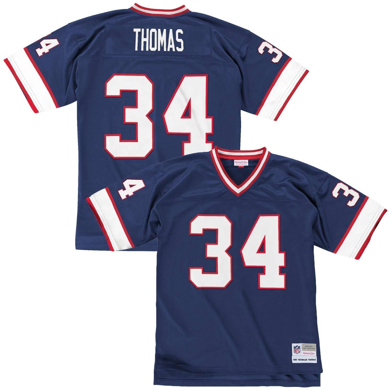 promo code 16d6f a3bda Thurman Thomas #34 Buffalo Bills Legacy Throwback NFL Jersey