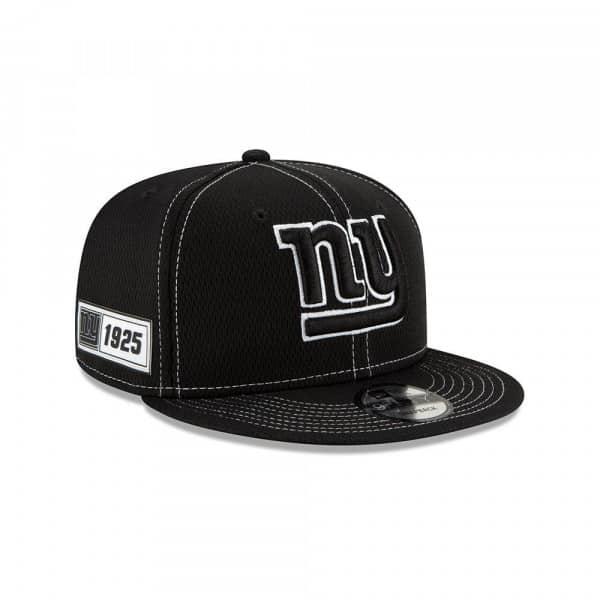 New York Giants 2019 NFL Sideline Black 9FIFTY Snapback Cap Road