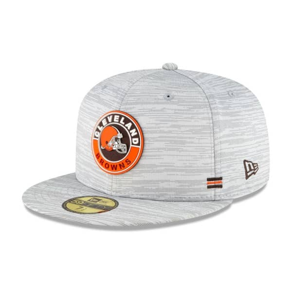Cleveland Browns Official 2020 NFL Sideline New Era 59FIFTY Fitted Cap Road
