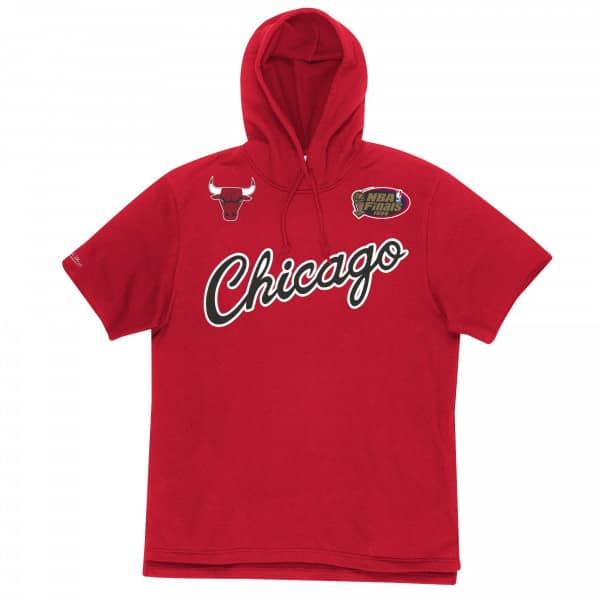 Chicago Bulls Mitchell & Ness Gameday Short Sleeve NBA Hoodie Rot