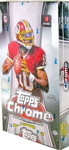 2012 Topps Chrome Football Hobby Box NFL