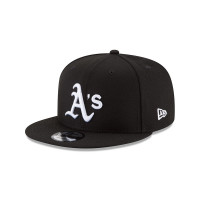 Oakland Athletics Black & White 9FIFTY Snapback MLB Cap