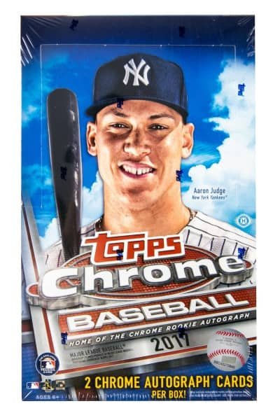 2017 Topps Chrome Baseball Hobby Box MLB