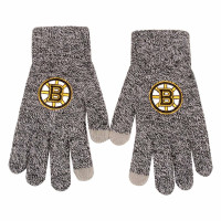 Boston Bruins Gray Knit Texting FOCO NHL Handschuhe