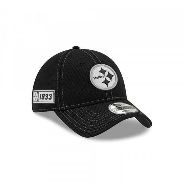 Pittsburgh Steelers 2019 NFL Sideline Black 9TWENTY Adjustable Cap Road