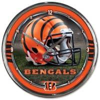 Cincinnati Bengals Chrome NFL Wanduhr