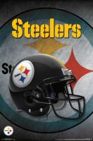 Pittsburgh Steelers Helmet Football NFL Poster