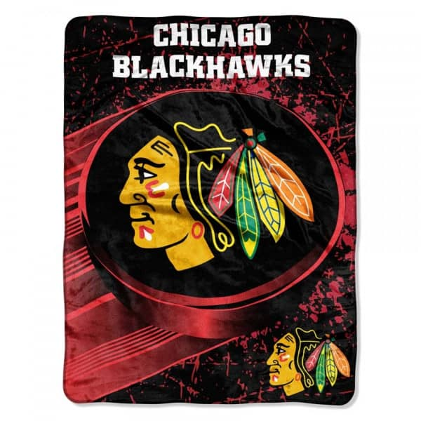Chicago Blackhawks Micro Raschel NHL Decke