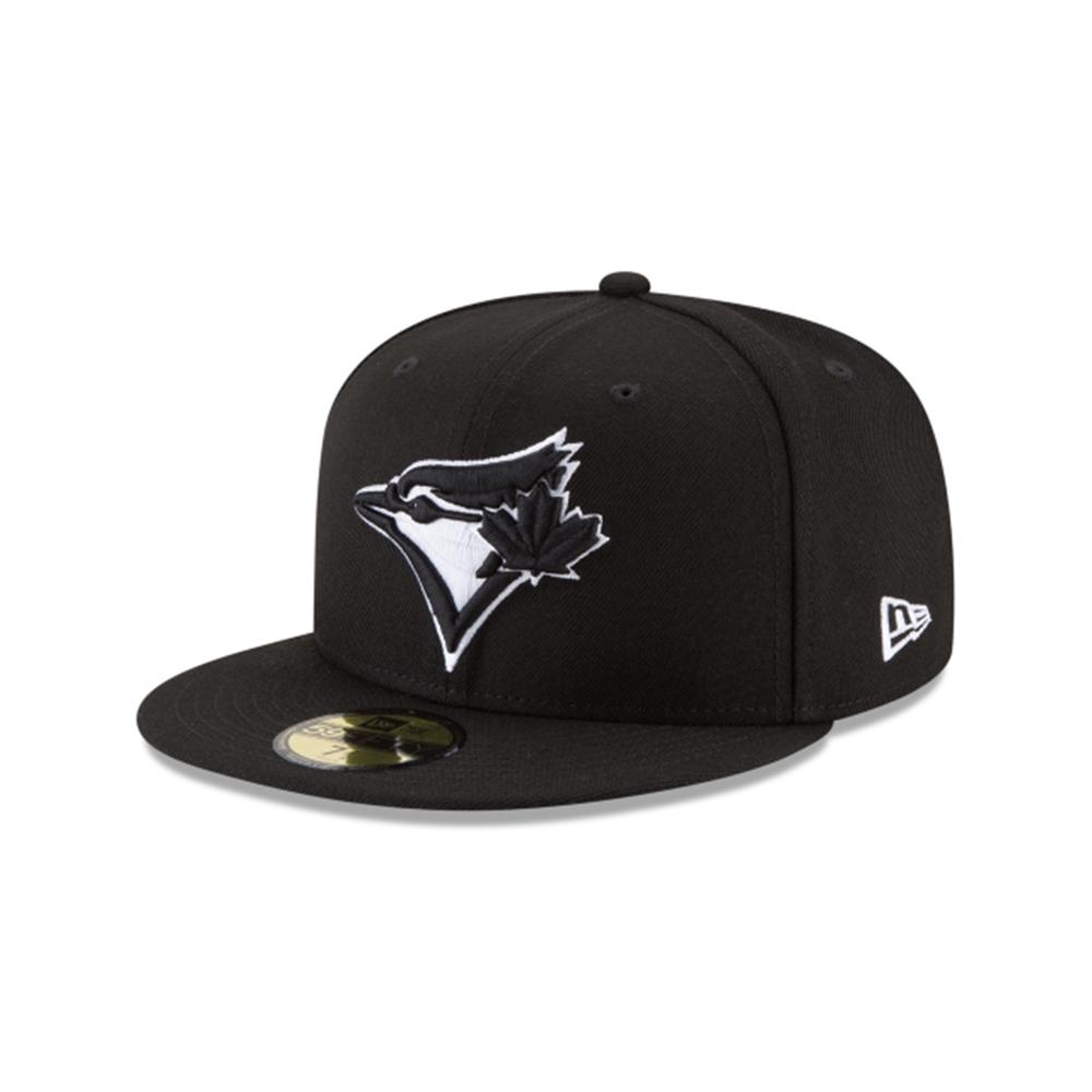 new products 4f091 173b4 New Era Toronto Blue Jays Black   White 59FIFTY Fitted MLB Cap   TAASS.com  Fan Shop