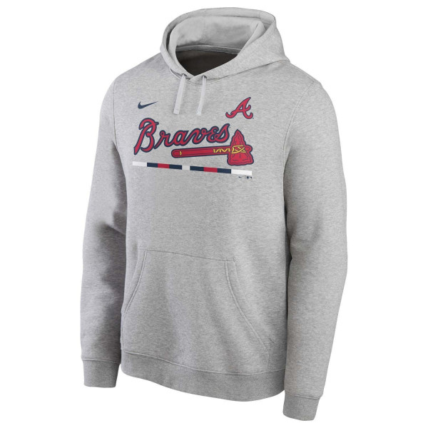Atlanta Braves Color Bar Nike Club Fleece MLB Hoodie