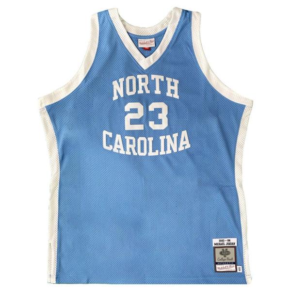 Michael Jordan #23 North Carolina Tar Heels 1983-84 Authentic NCAA Trikot Blau