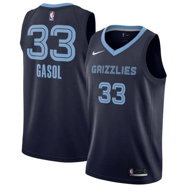 Marc Gasol #33 Memphis Grizzlies Icon Swingman NBA Trikot Navy