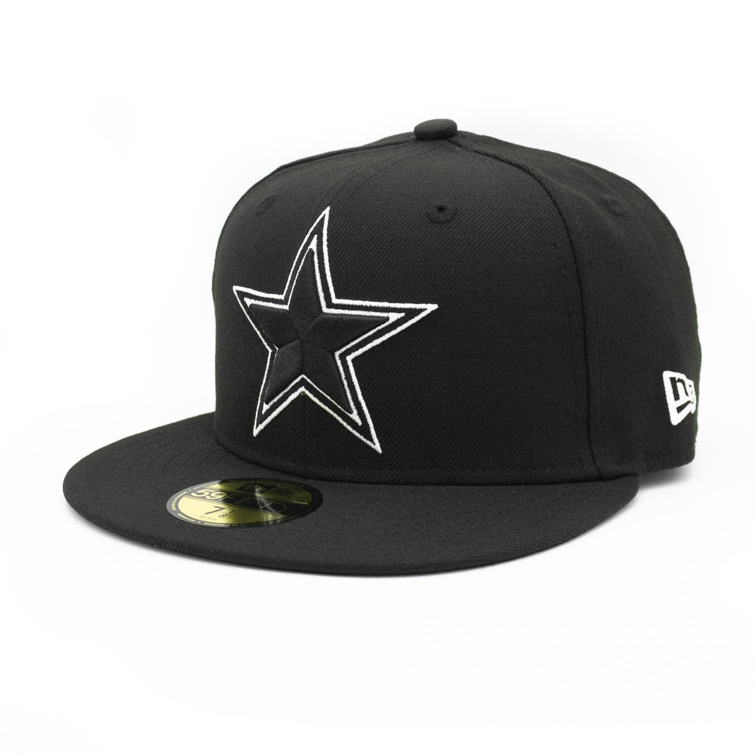 15ac319bd New Era Dallas Cowboys Black   White 59FIFTY Fitted NFL Cap