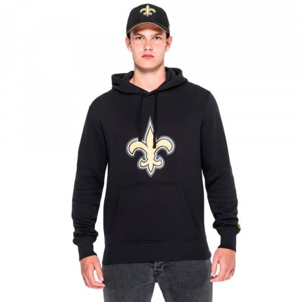 New Orleans Saints Logo Hoodie NFL Sweatshirt Schwarz