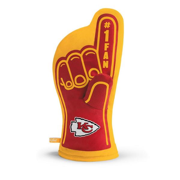 Kansas City Chiefs #1 Fan NFL Ofenhandschuh