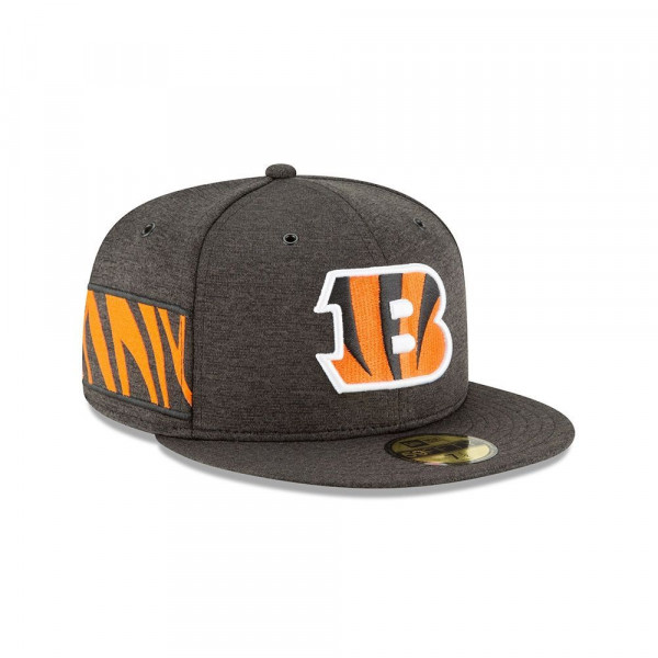 sports shoes b3b14 5f293 New Era Cincinnati Bengals 2018 NFL Sideline 59FIFTY Fitted Cap Home    TAASS.com Fan Shop