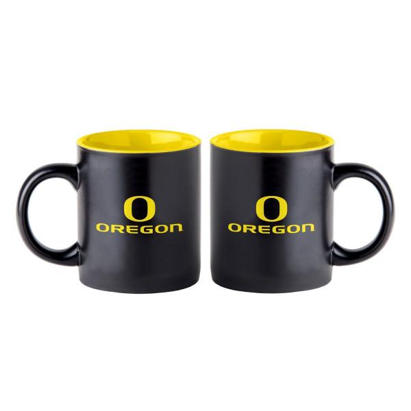 Oregon Ducks Black Matte Jumbo NCAA Becher (415 ml)