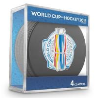 World Cup of Hockey Eishockey Puck Untersetzer (4er Set)