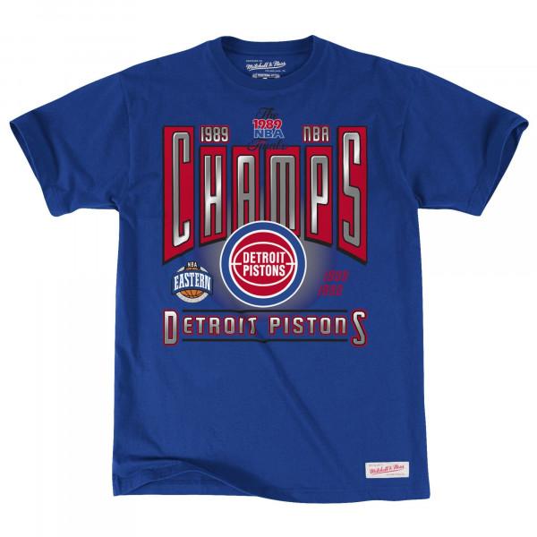 Detroit Pistons 1989 Winner Takes All NBA T-Shirt Blau