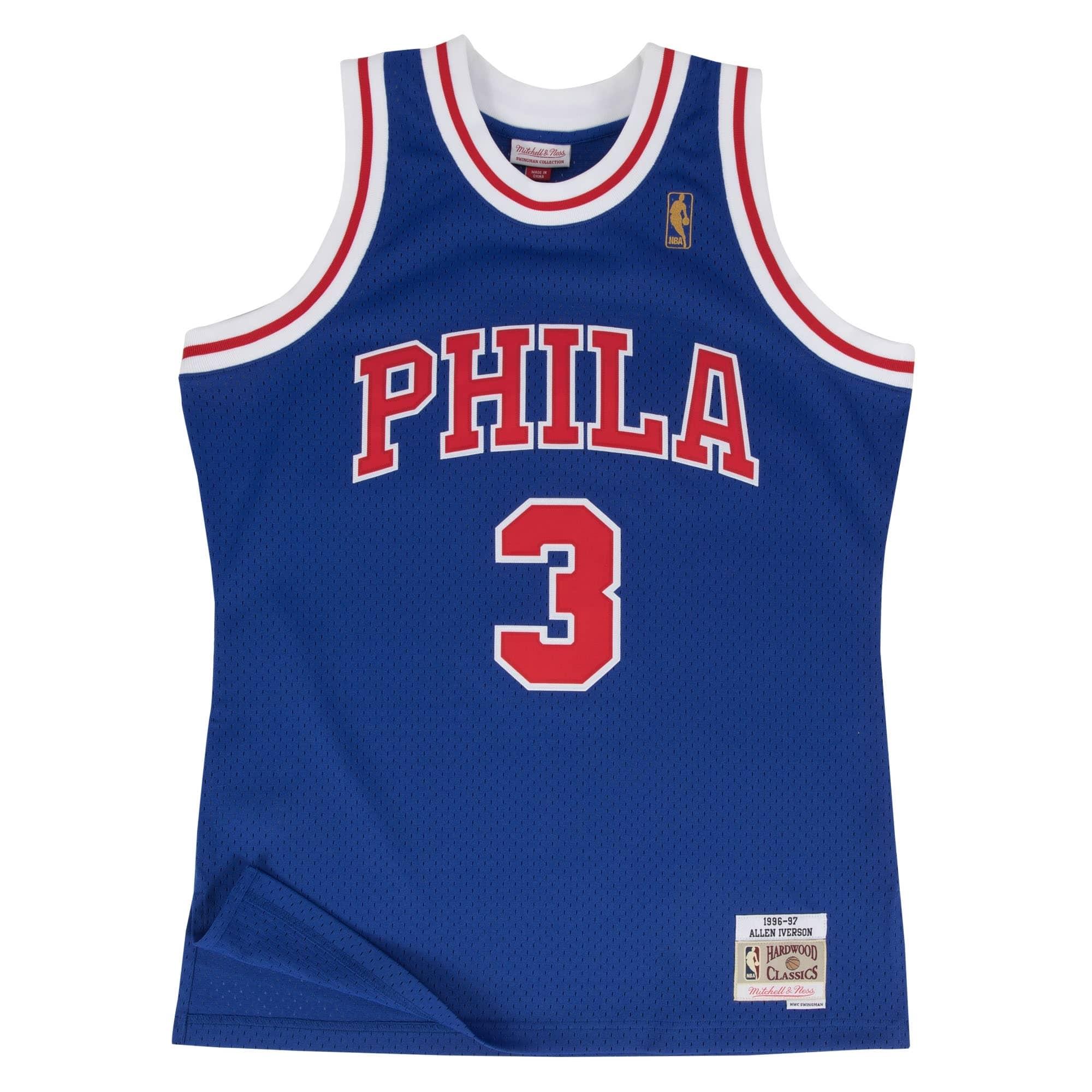 XXL S Philadelphia 76ers #3 Allen Iverson White Basketball Jersey Size