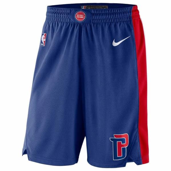 Detroit Pistons Icon Swingman NBA Shorts Blau