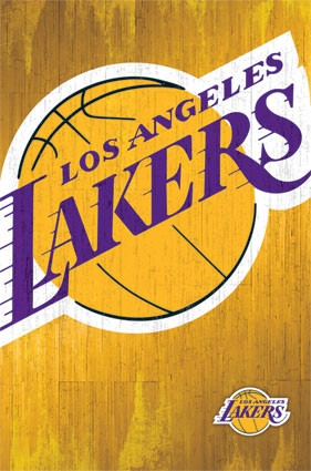 Los Angeles Lakers Official Team Logo NBA Poster RP13059