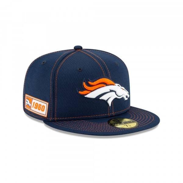 Denver Broncos 2019 NFL On-Field Sideline 59FIFTY Fitted Cap Road