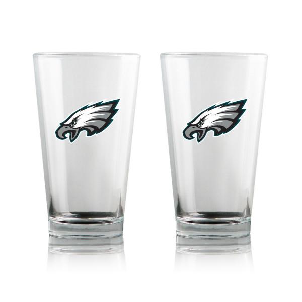 Philadelphia Eagles Highball NFL Pint Glas Set (2 Stk.)